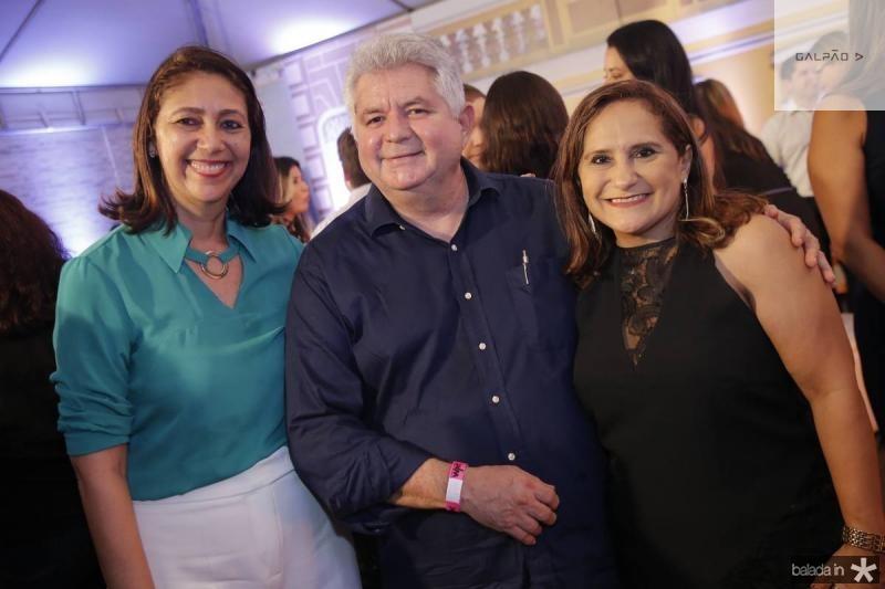 Linda Tavares, Carmelo Queiroz e Fernanda Lima