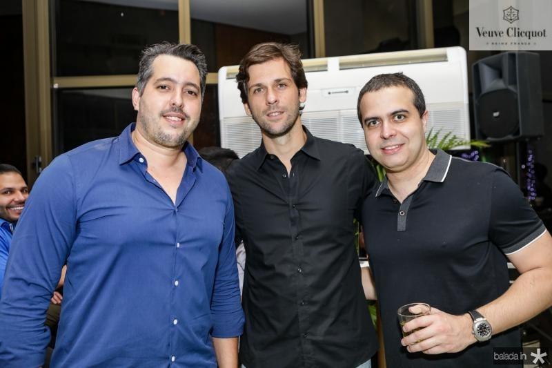 Tiago Leal, Henrique Brasil e Felipe Parente