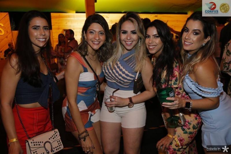 Soraya Vieira, Carol Nogueira, Jordana Lima, Paula Garcia e Karine Mota