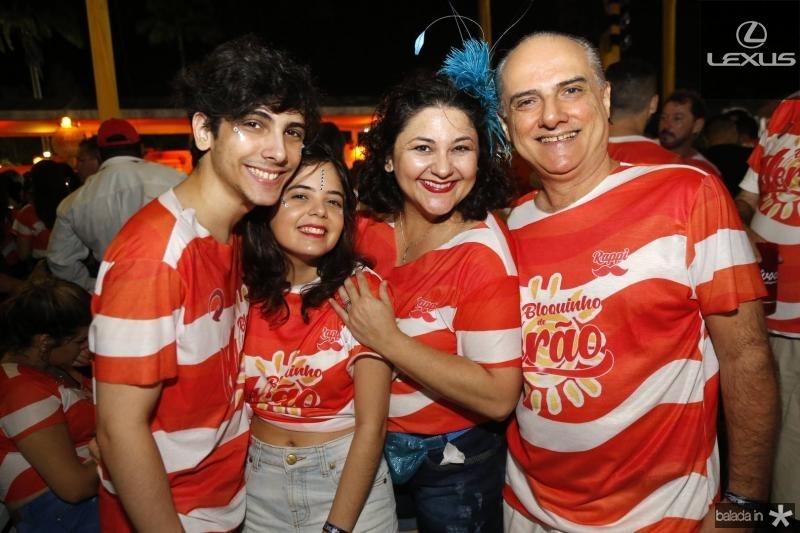 Marcelo Filho, Denise Queiroz, Luciana e Marcelo Aragao