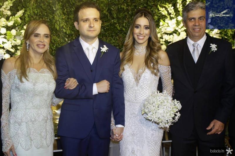 Sonia Ximenes, Rafael Lobo, Nathalia Ximenes e Marcos Tavares