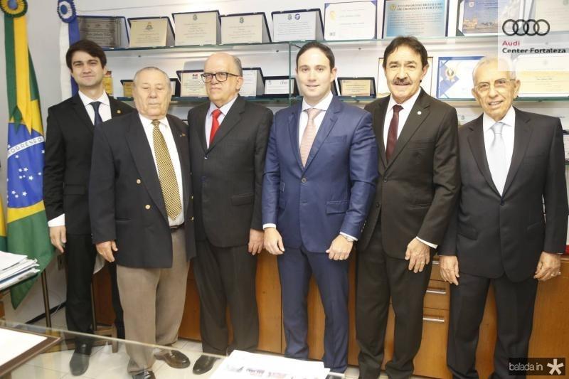 Pedro Gomes de Matos, Idalmir Feitosa, Fernando Ximenes, Thiago Asfor, Raimundo Gomes de Matos e Paulo Ponte