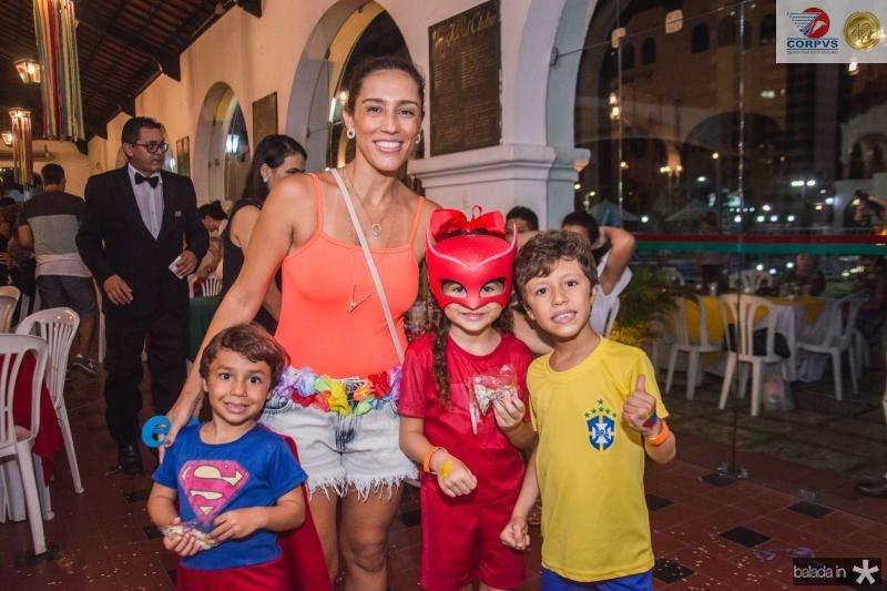 Bento Mendes, Juliana Mendes, Maria Clara e Joao Pedro Mendes