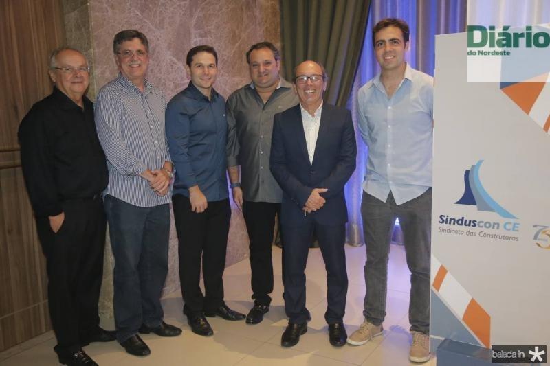 Helio Galiza, Carlos Gama, Fabio Albuquerque, Patriolino Dias, Andre Montenegro e Gama Filho