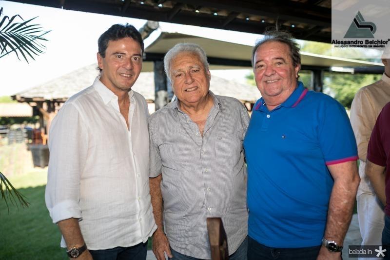Luis Teixeira, Valdir Diogo e Chiquinho Aragao
