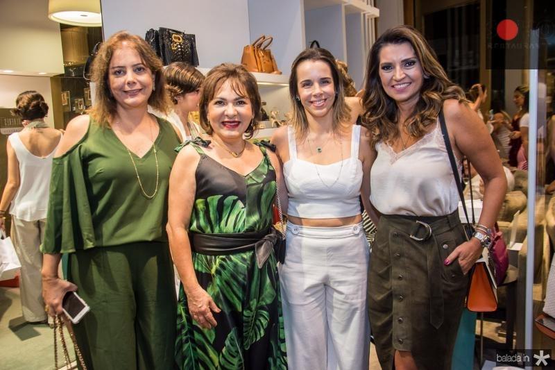 Cláudia Gradvohl, Regina Pinho, Debora Bezerra e Marcia Travessoni