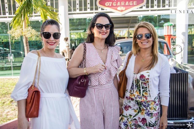 Cristiana Carneiro, Adriana Miranda e Leticia Studart