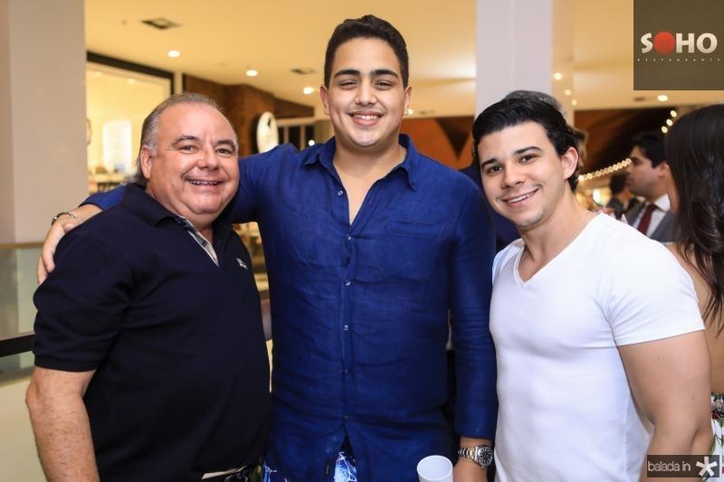 Pedro Carapeba, Rafael Pinto e Pedro Negrao