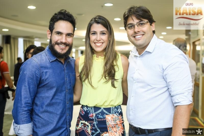 Geferson Farias, Beatriz Barreira e Wanderson Cavalcante