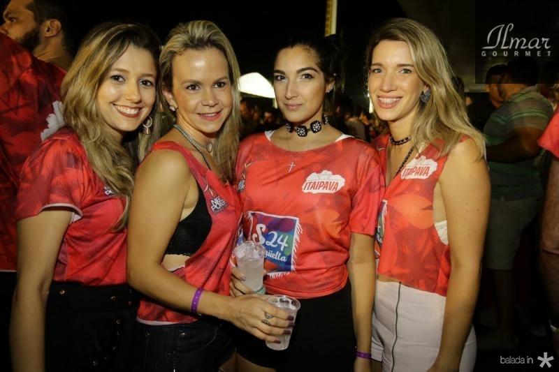 Deborah Sobreira, Maria Teresa Negreiros, Larissa Mascarenhas e Mirella Dantas
