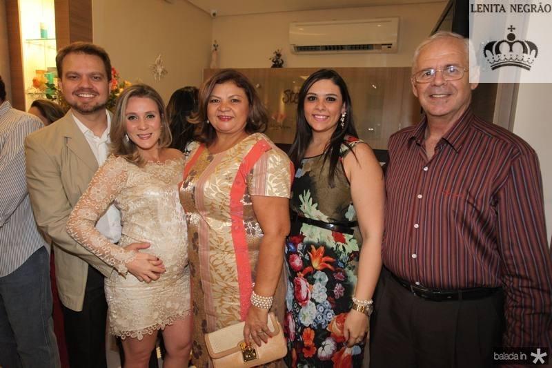Valderi Vieira, Olga Saraiva, Lucia Rocha, Ticiene e Sergio Bezerra