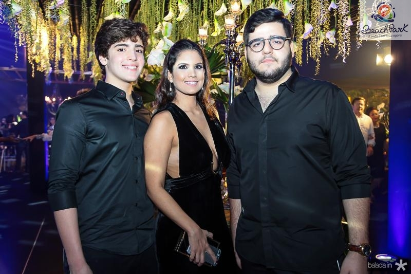 Joao Paulo, Amanda e Pedro Freitas