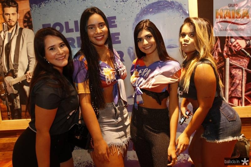 Sarah Espinosa, Sand Rocha, Andressa Katlin e Loana Alexandre