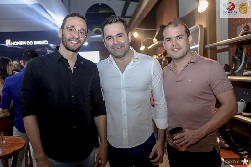 Eunício Oliveira Sobrinho, Alan Sankey e Eduardo Weimar