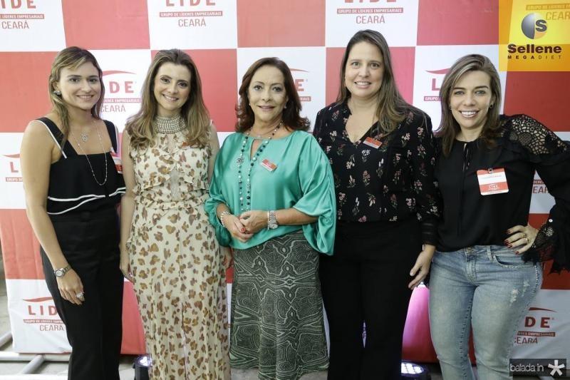 Ana Cristina Colaco, Emilia Buarque, Sandra Costa, Luciana Colares e Claudenia Regia