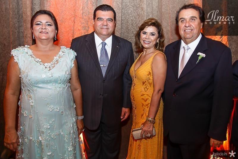Marta Cunha, Odmar Feitosa, Raimundinha Ximenes e Fernando Fialho
