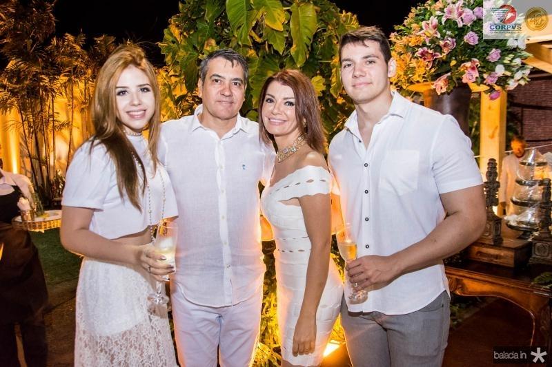 Monique Macedo, Luis Eduardo Moraes, Suzane Farias e Matheus Machado