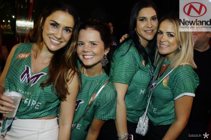 Priscila Mariani, Juliana Cabral, Antonieta Campos e Sabrina Ribeiro