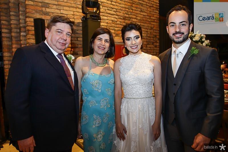 Raul e Marieta Araujo, Beatriz e Felipe Barreira