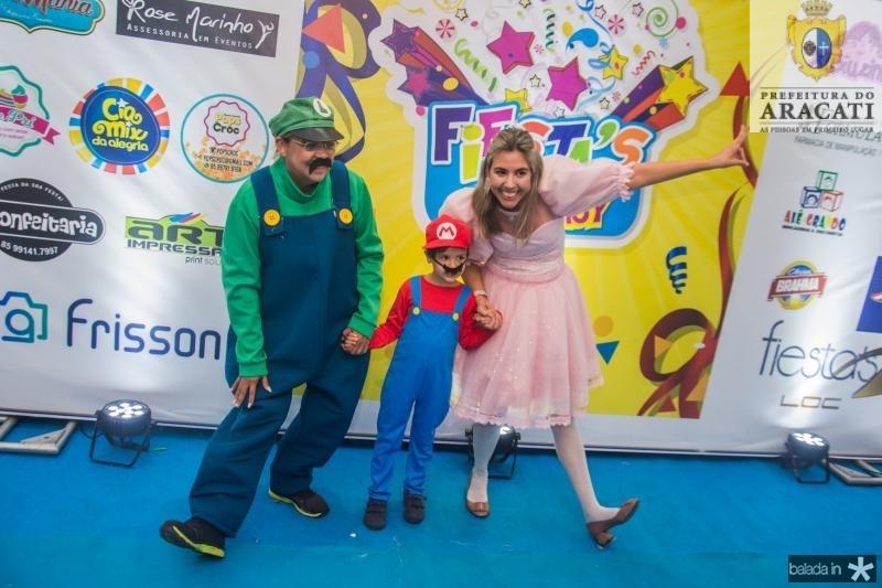 Paula Athayde, Mario Leon e Lana rodrigues
