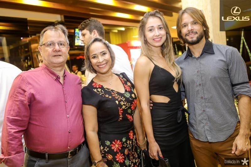 Marconi Barbosa, Zelia Lunguinho, Marina Studart e Ivo Lunguinho