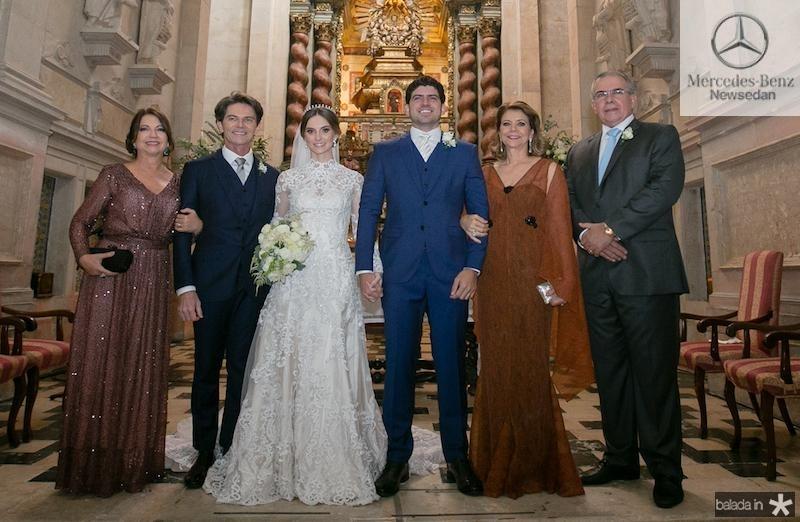 Fátima e Cláudio Henrique Câmara e de Verônica e Héverson da Paz, com Lucas e Laime