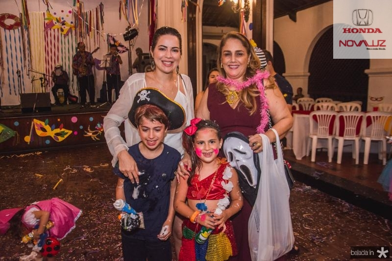 Onelia Leite, Pedro Santana, Luisa Santana e Marisa Benevides