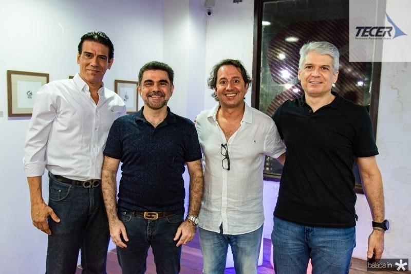 Wilson Loureiro, Isaac Furtado, Rodrigo Parente e Leonardo Leal