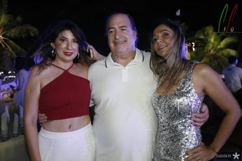 Valeria Bezerra, Ricardo Barbosa e Beatriz Alexandre