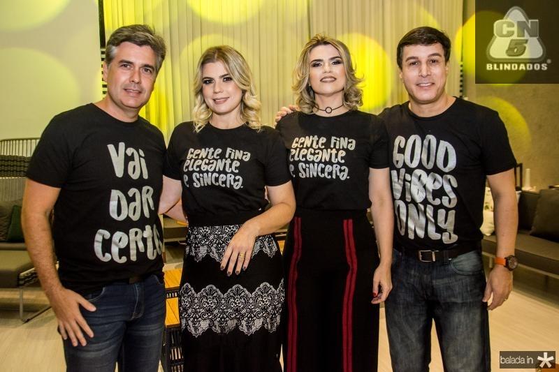 Alexandre Pereira, Liliane Meira, Ana Cristina Meira e Valderzei Wanderley