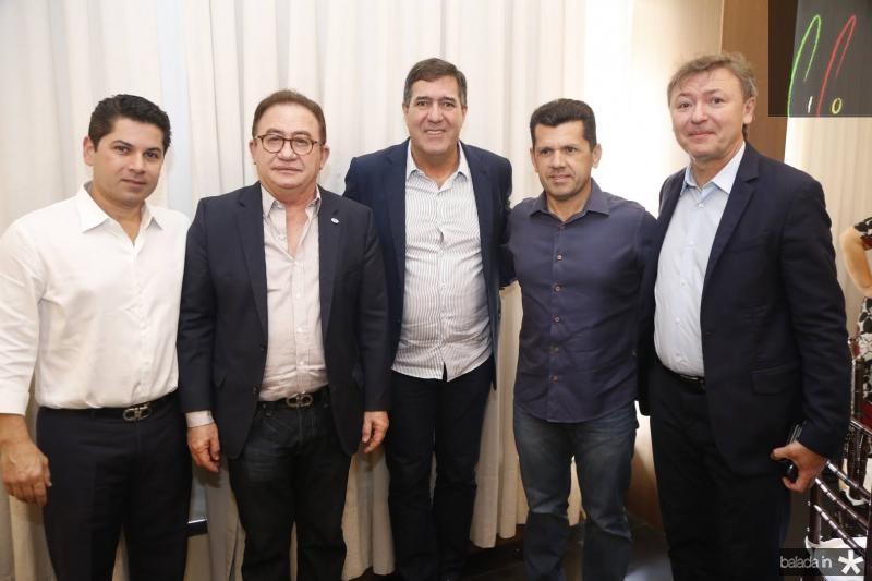 Pompeu Vasconcelos, Manuel linhares, luiz Gastao, Erick Vasconcelos e Mauricio Filizola