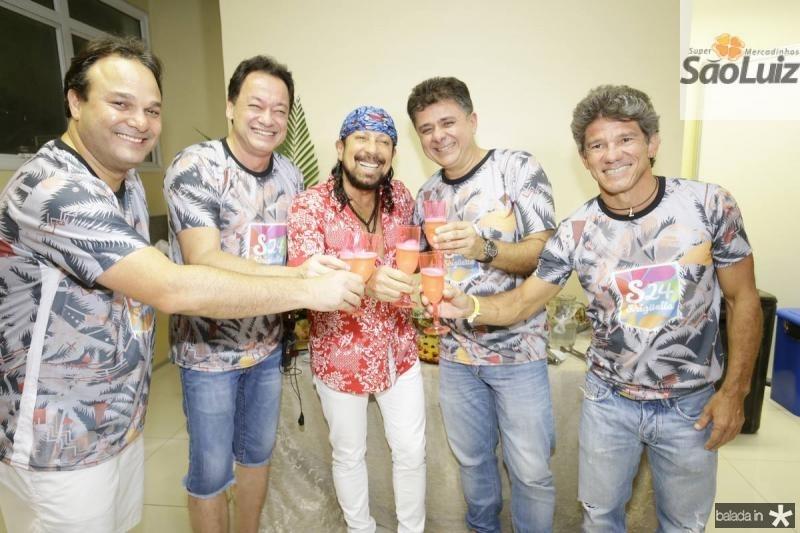 Enio Cabral, Pedro Coelho Neto, Bell Marques, Alexandre Frota e Carvalhinho Junior