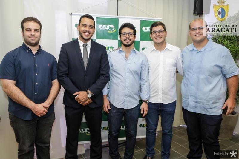 Paulo Salin, Valdemir Alves, Rafael Fujita, Romualdo Neto e Bruno Berchmas