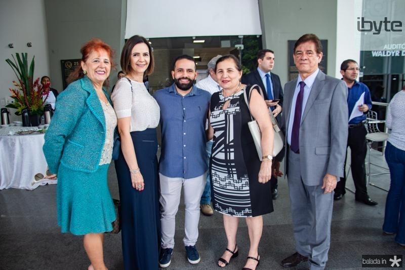 Fatima Duarte, Mirian Pereira, Flavio Oliveira, Fatima Facundo e Elias Carmo