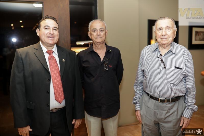 Arnaldo Silva, Tiberio Burlamaqui e Gilberto Rangel