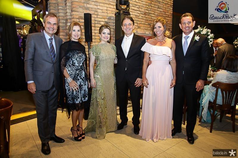Luiz e Rossane Orquida, Daniele e Afranio Barreira, Cristiane e Victor Foreste