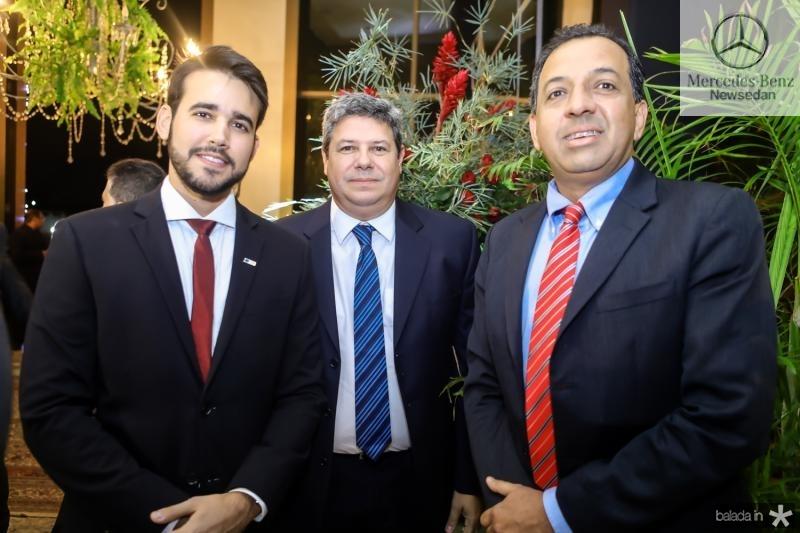 Cabral Neto, Bob Santos e Bernardo Carvalho