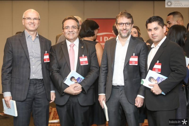 Yuri Colares, Romildo Rolim, Francisco Marinho e Pompeu Vasconcelos