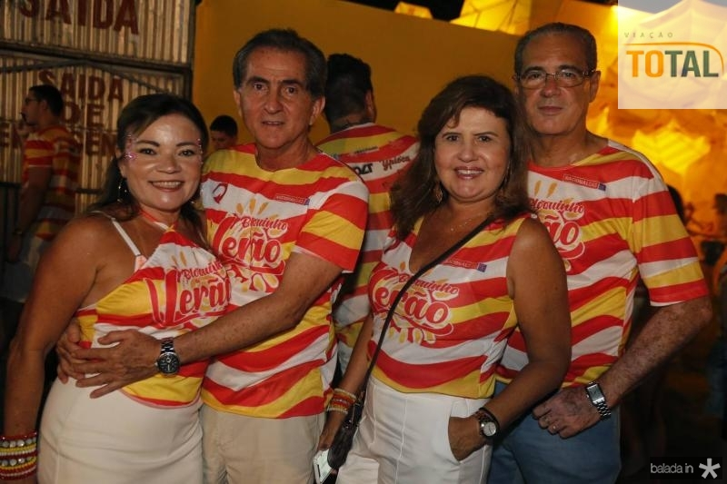 Samara e Ronaldo Dias, Claudia e Paulo Pepeino