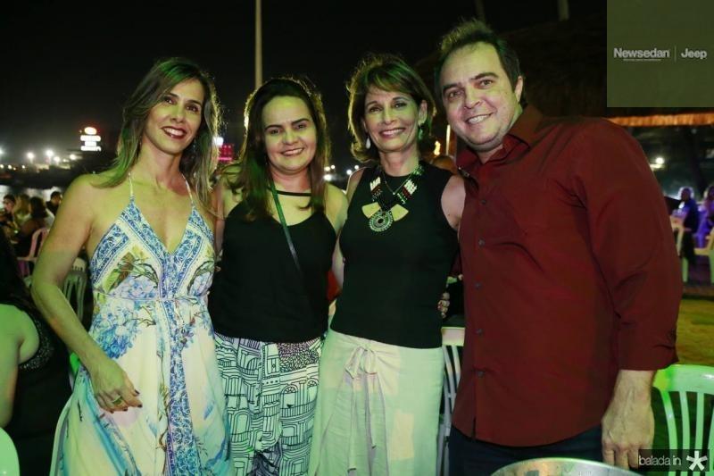 Liane Navarro, Monica Franco, Monica Navarro e Alfredo Franco Junior