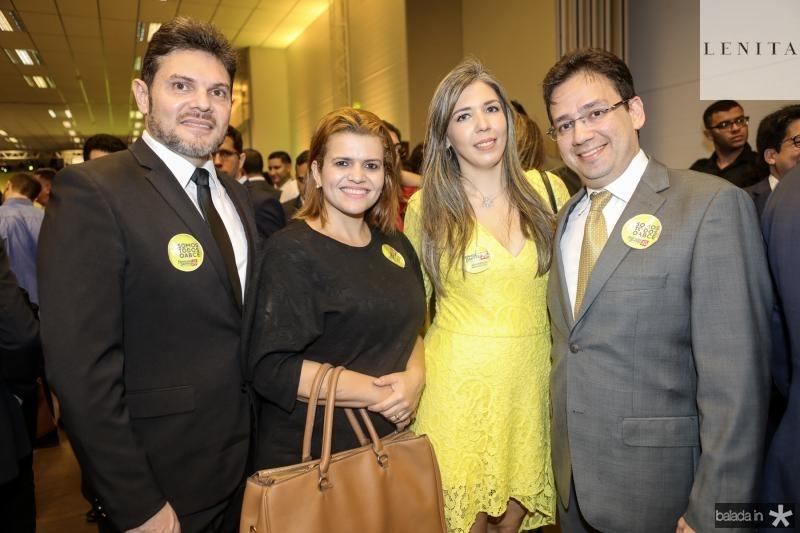 Wesley e Iana Tabosa, Natalia e Marcio Albuquerque