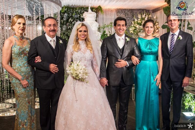 Maria Hortencia Rios, Joao Bosco Rios, Lohana Fontenele, Daniell Rios, Onelia Leite e Camilo Santana