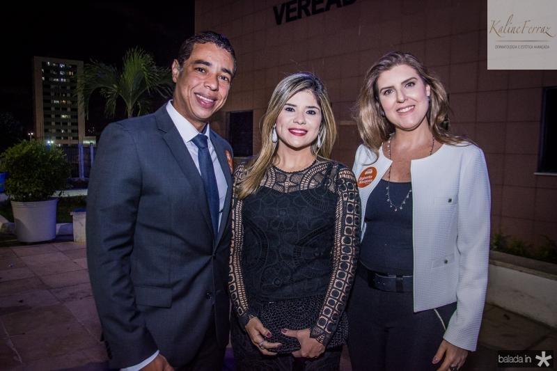 Leonardo Araujo, Roberta Vasques e Carla Sofia