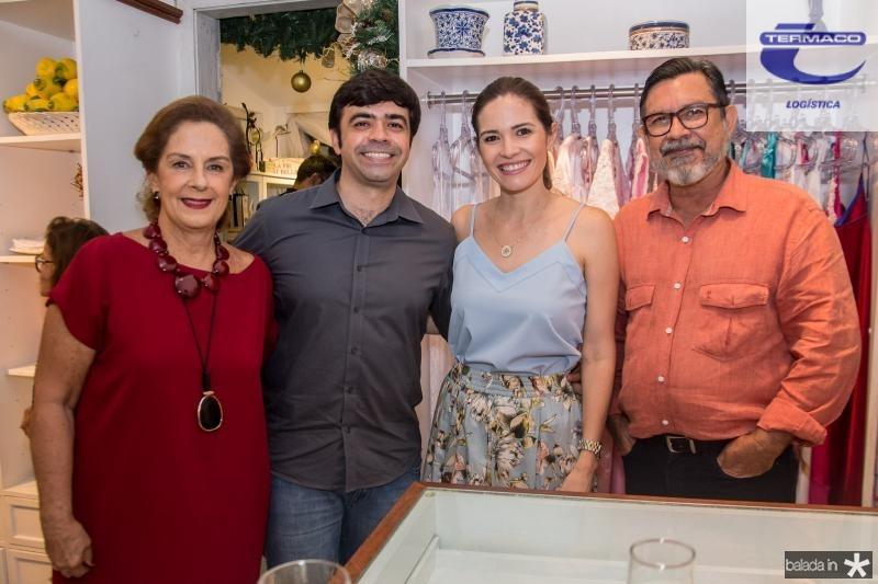 Tida Leal, Eduardo Cals, Natalia Cals e Mauricio Cals