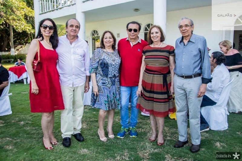 Glaucia Ferrer, Joao Goncalves Junior, Gleyde Lucena, Gaudencio Lucena, Gleyce Lucena e Gleydston Lucena