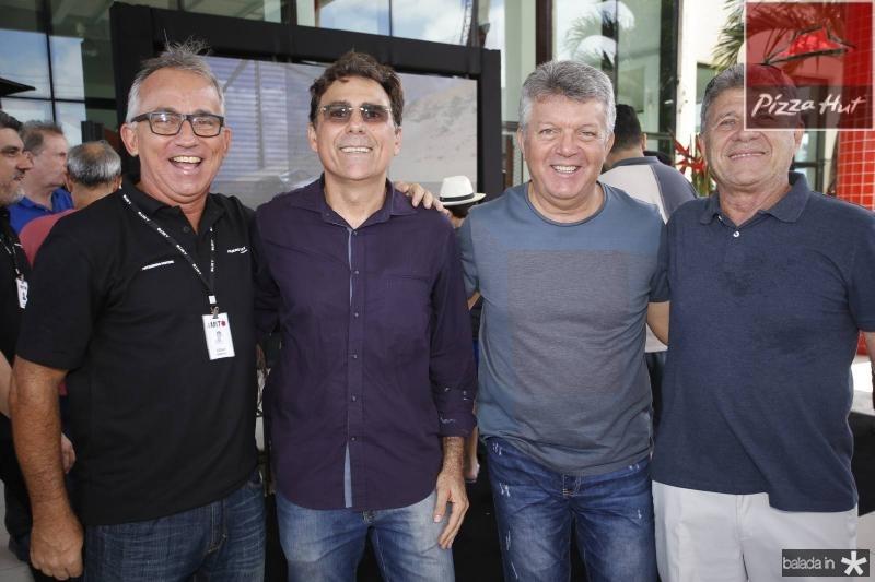 Cesar Giosef, Clever Ponte, Carlos Arruda e Airton Fernandes