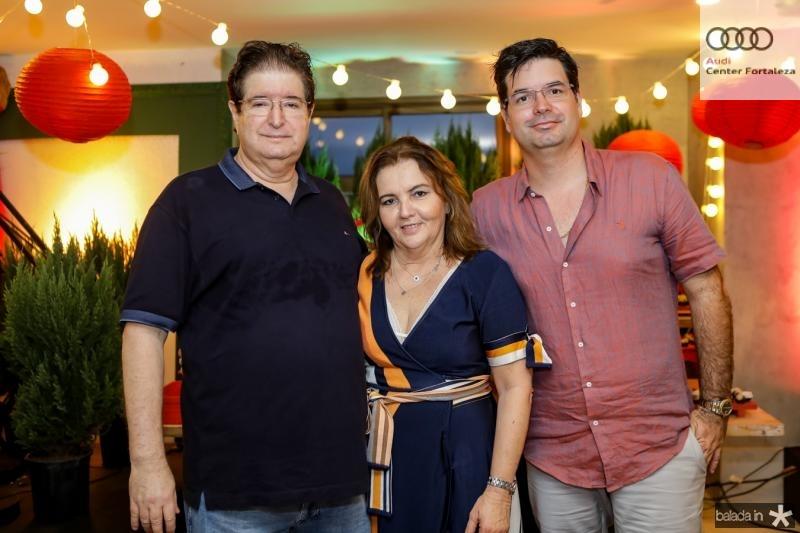 Manoel, Lucia e Andre Pires