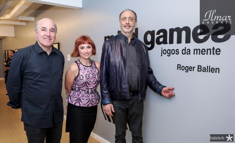 Silvio Frota, Angela Berlinde e Roger Ballen