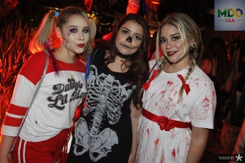 Mariana Castro, Larissa Costa e Fatima Felix