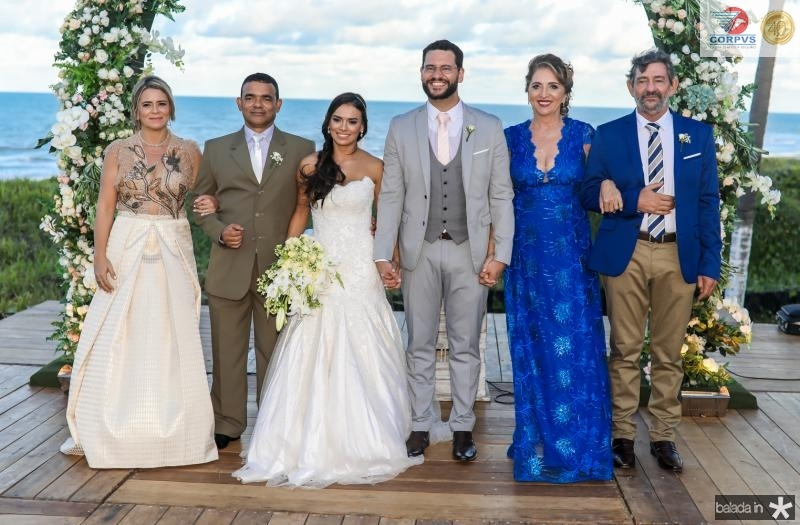 Vandira Silva, Civaldo Sousa, Veruska, Tiago, Conceiçao e Vieira Lobo